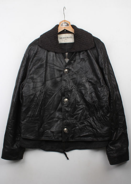 DIRK BIKKEMBERGS layerd leather jacket