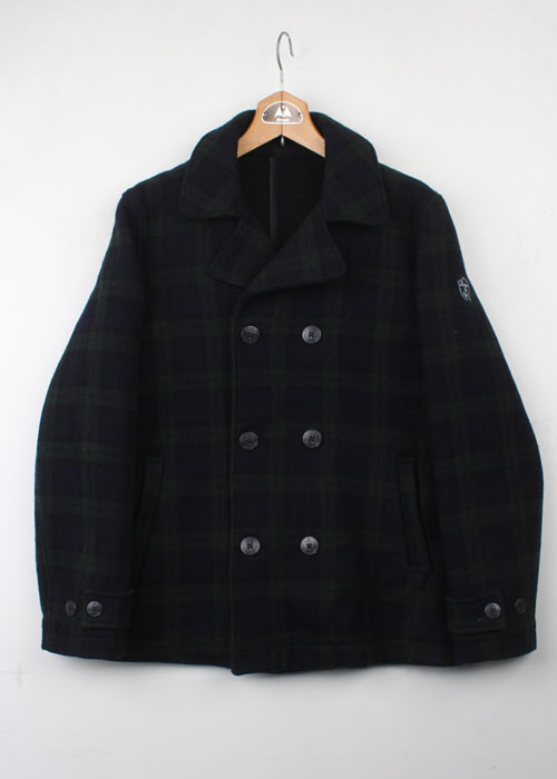 Portland check pea coat