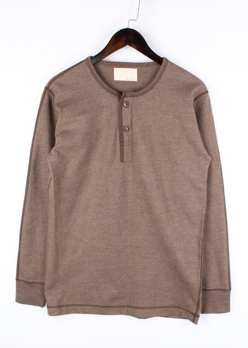 BOYS CO., henry neck wool t-shirts
