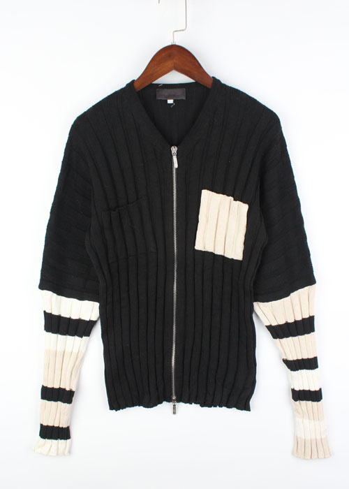 SIMULATANEOUS cotton knit cardigan