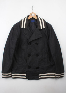 BEAMS denim pea coat