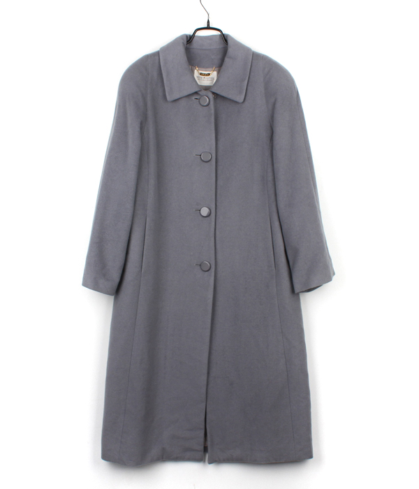 NOIR POUPIEL wool coat