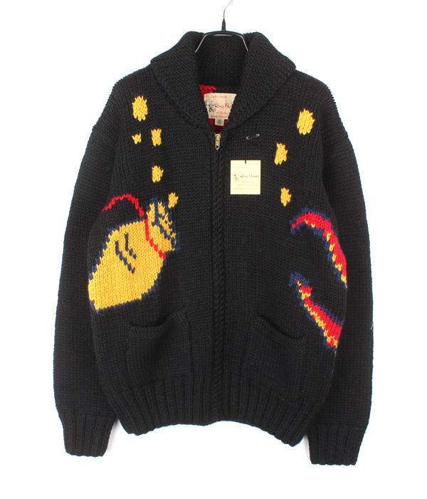 Dry Bones cowichan sweater jacket