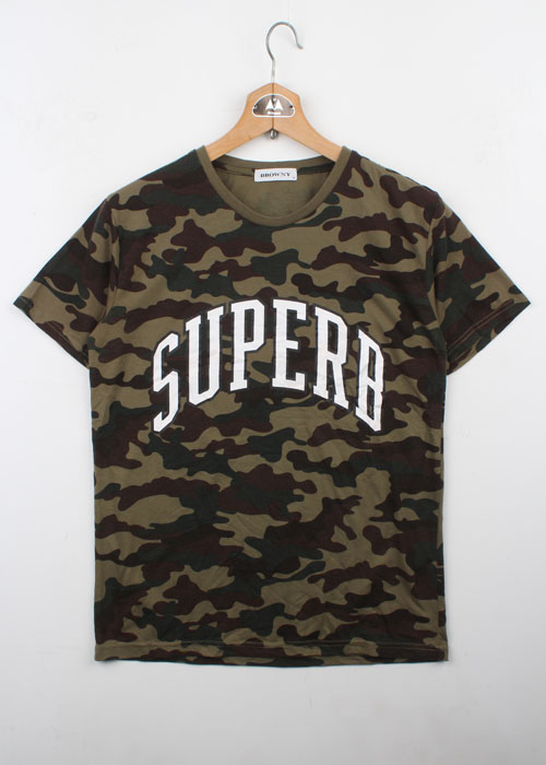 BROWNY camo pattern t-shirts