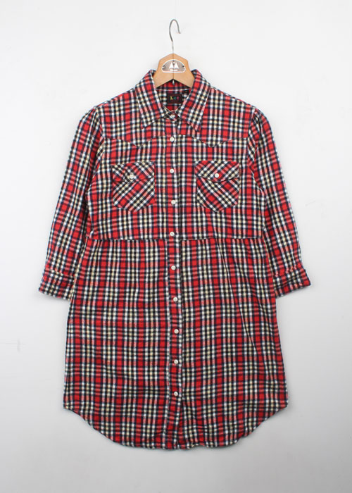 Lee check shirts one-piece