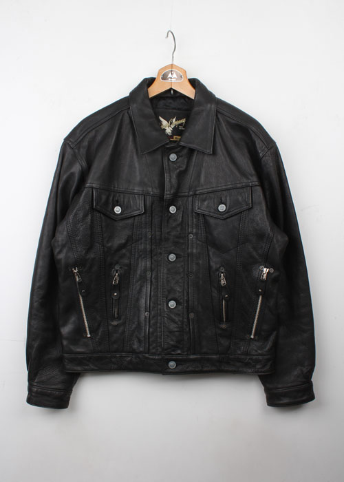 EDWIN leather rider jacket
