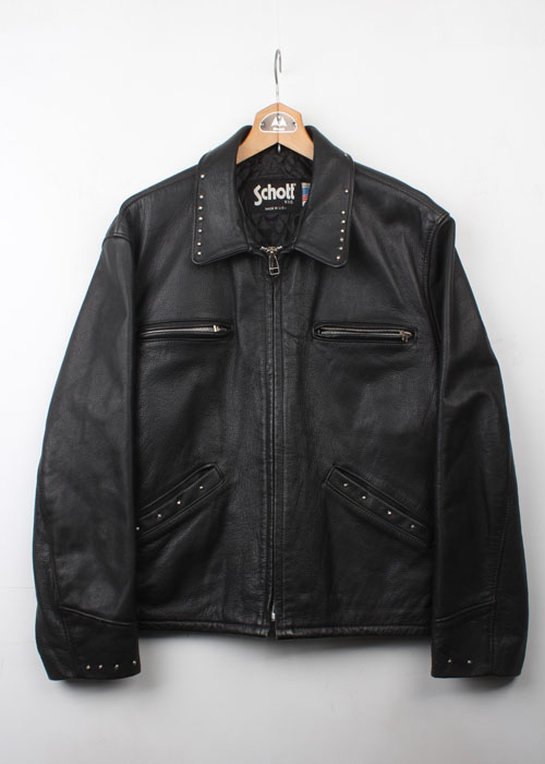 SCHOTT stud single rider jacket