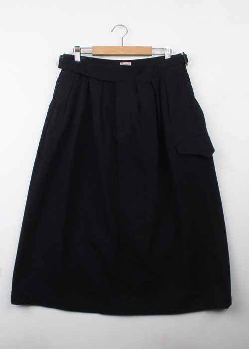 BEAMS BOY heavy wool&cotton skirt