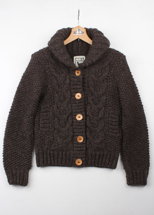 estelle wool sweater cardigan