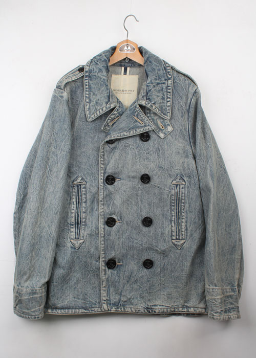 DENIM&SUPPLY denim pea coat