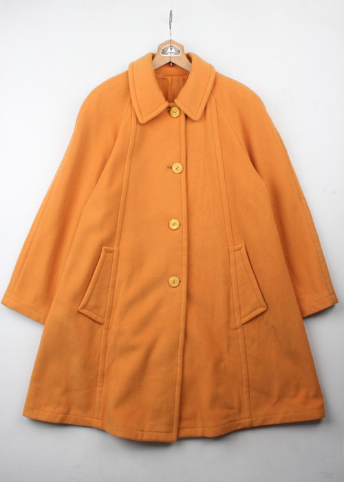 courreges over wool coat