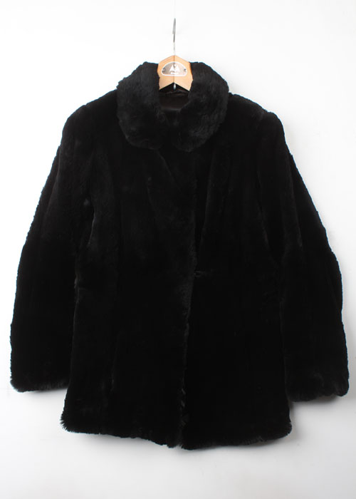 shearing mink half coat