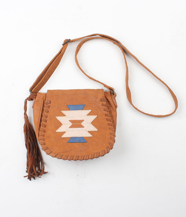 witty&pitty navajo pattern cross bag