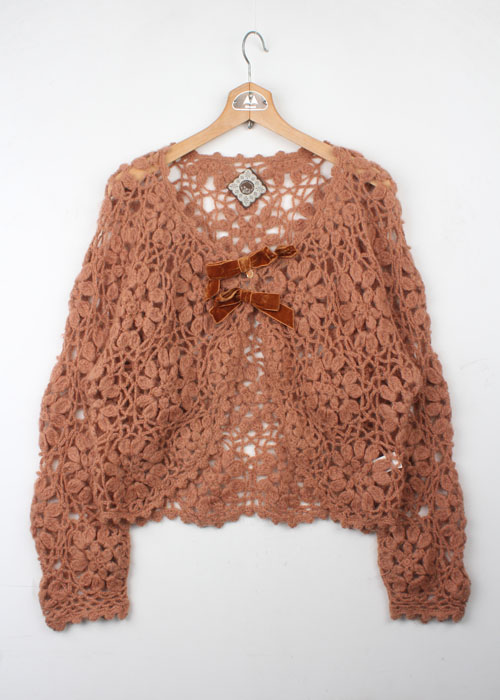 STREET ORGAN lace knit cardigan