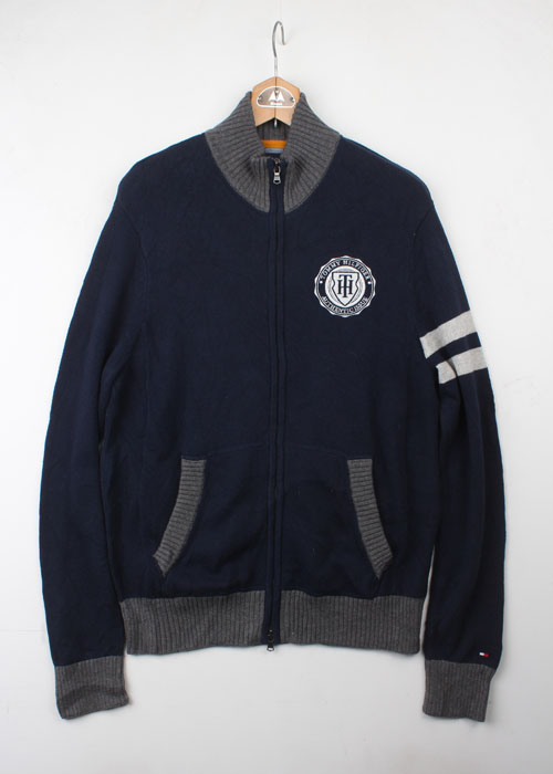TOMMY HILFIGER zip-up cotton knit