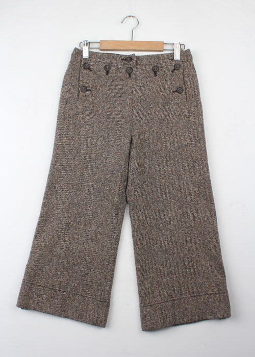 HUMAN WOMAN tweed wool pants