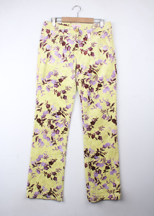 GUY ROVER floral corduroy pants