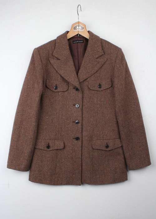 crema de carante tweed wool jacket