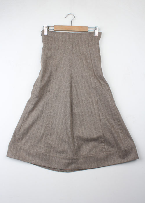 PICCIMORRA high waist wool skirt