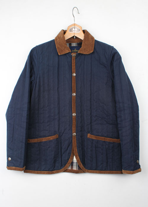 Le minor indigo cotton quilting jacket