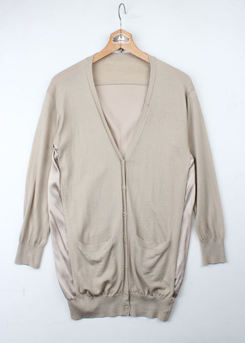 PLAIN PEOPLE wool&silk cardigan