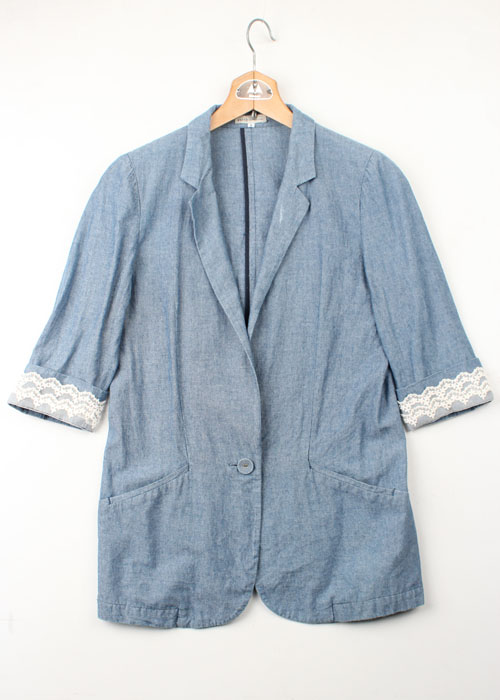 earth music&ecology chambray jacket