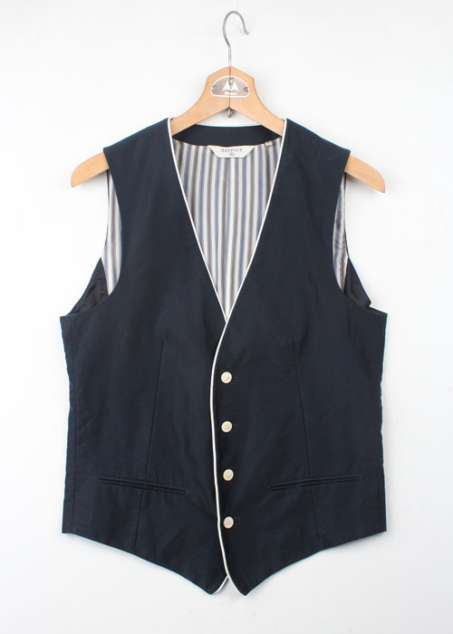 EDIFICE leather trim vest