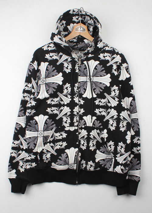 CHROME HEARTS zip-up hoodie