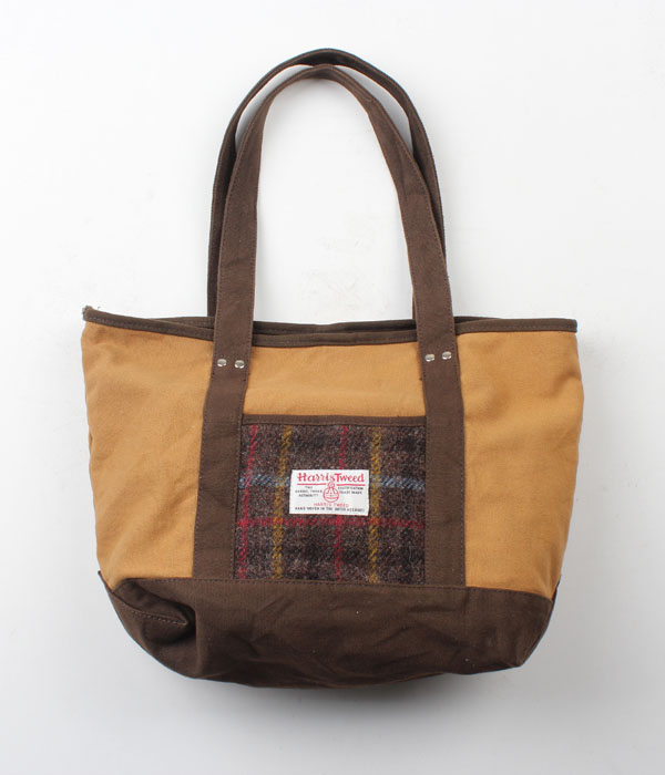 Harris Tweed canvas tote bag