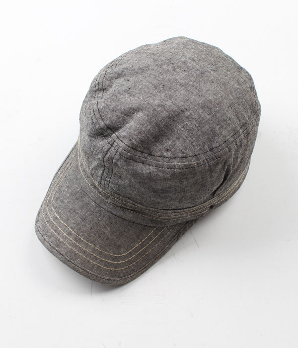 BACK NUMBER chambray cap