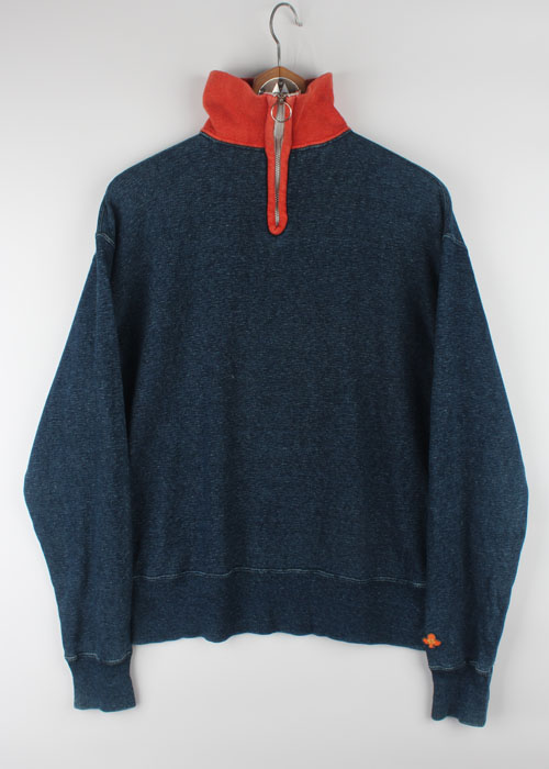 45rpm pull over indigo sweat shirts
