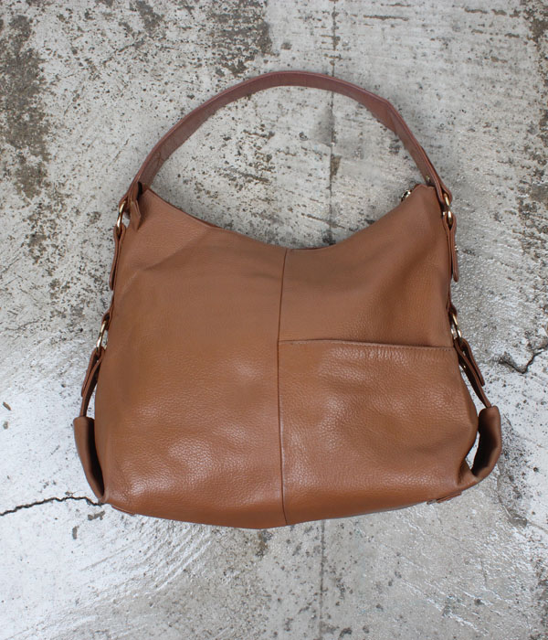 vtg leather tote bag