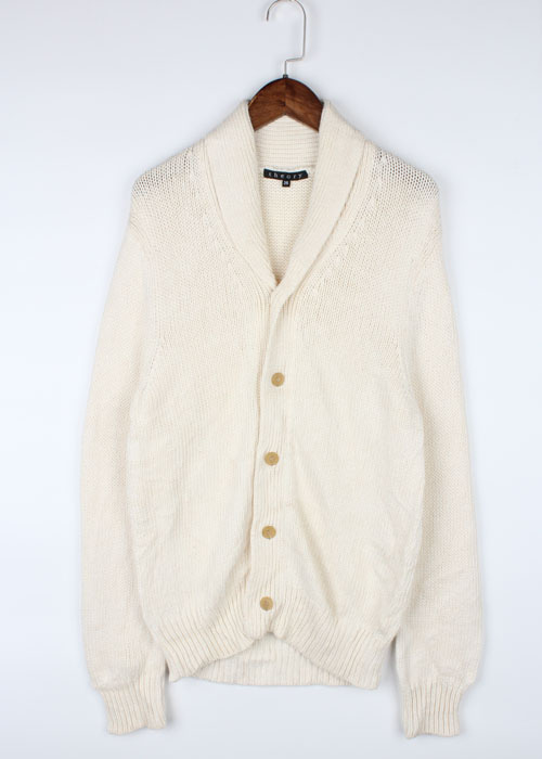 THEORY linen blend shawl collar knit cardigan