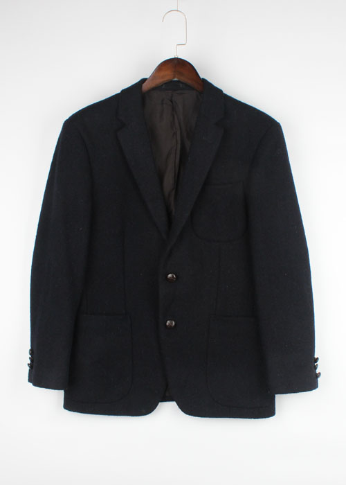 Harris Tweed navy wool jacket
