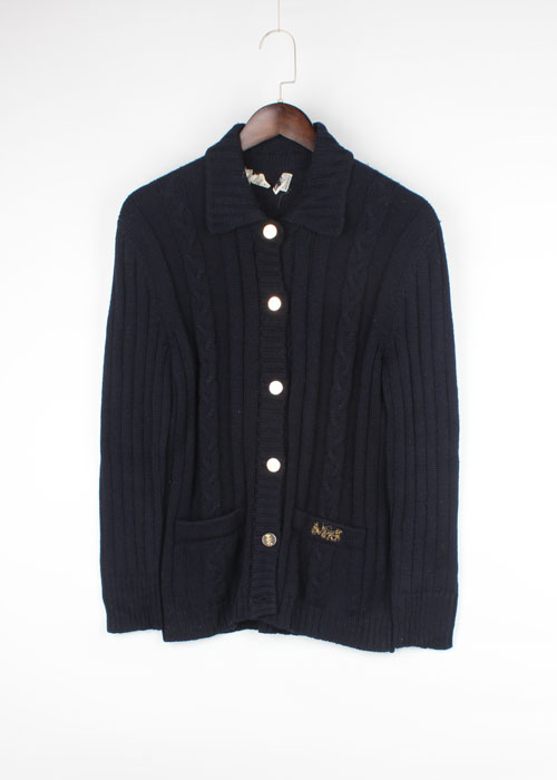 delfina wool knit cardigan