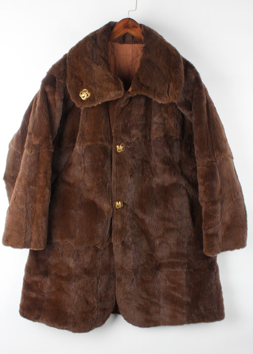 shearring mink coat (over size)