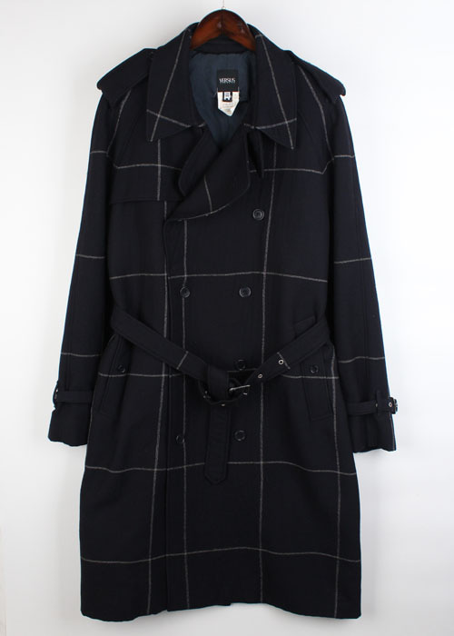 VERSUS by VERSACE wool trench coat
