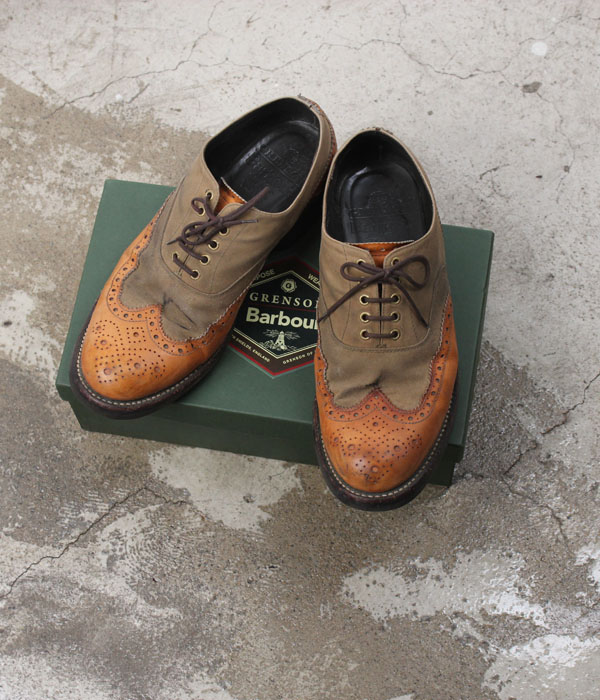 GRENSON x BARBOUR marske brogue (UK10)