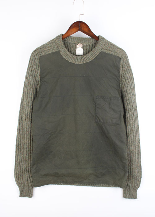 GLOBE TROTTERS waxed cotton& wool sweater