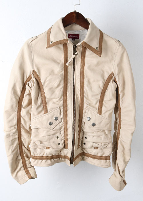 AVIREX sheep skin leather jacket