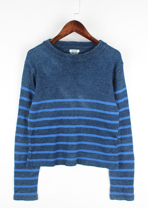 BLUE BLUE indigo cotton knit