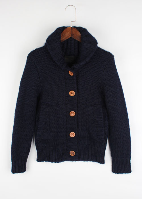 Cartonnage wool sweater cardigan