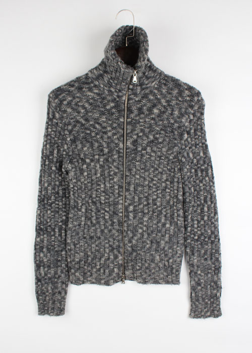 DOLCE&GABBANA wool knit zip-up