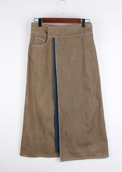 natural boo wrap skirt