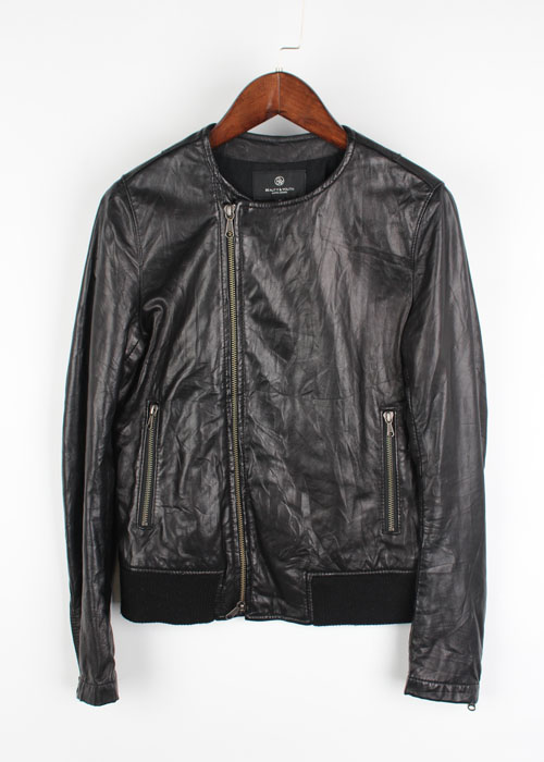BEAUTY&YOUTH sheep skin leather jacket