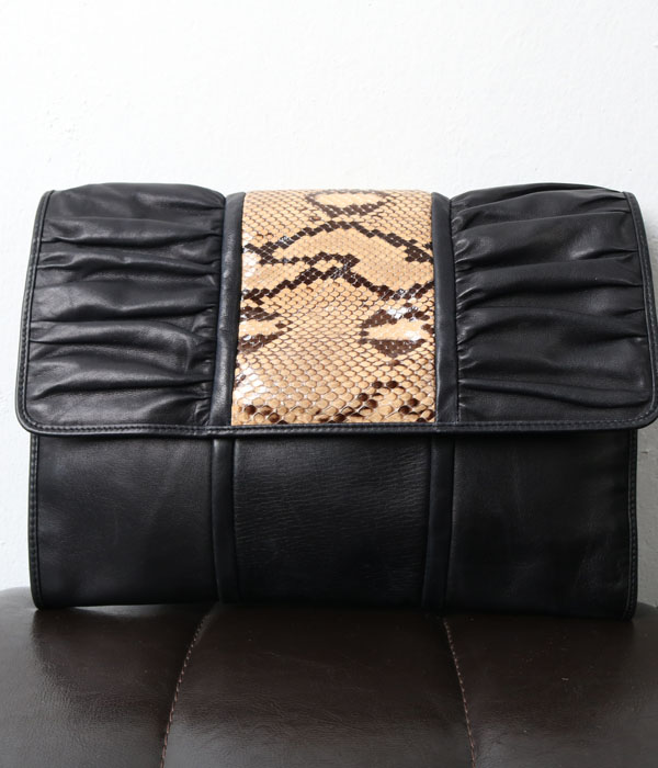 SILVARO BIAGINI leather clutch