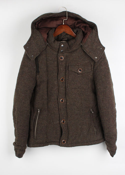 Editor's tweed wool padding jacket