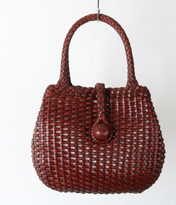 weaving leather bag