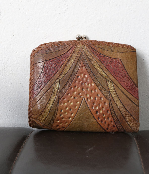 vtg leather wallet