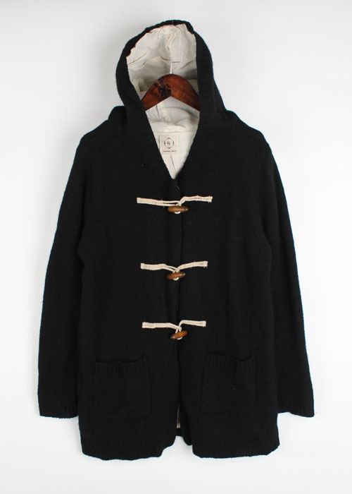 Samansa Mos2 wool knit duffle jacket